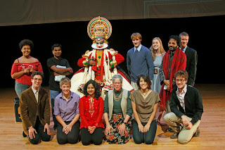The artists with some of the students and faculty after the performance.