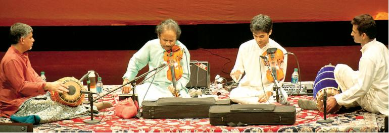 L. Subramaniam and Ambi Subramaniam in concert