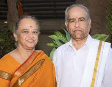 Trichy Sankaran with his wife